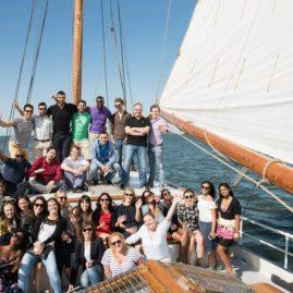 Groepsfoto Feest aan boord